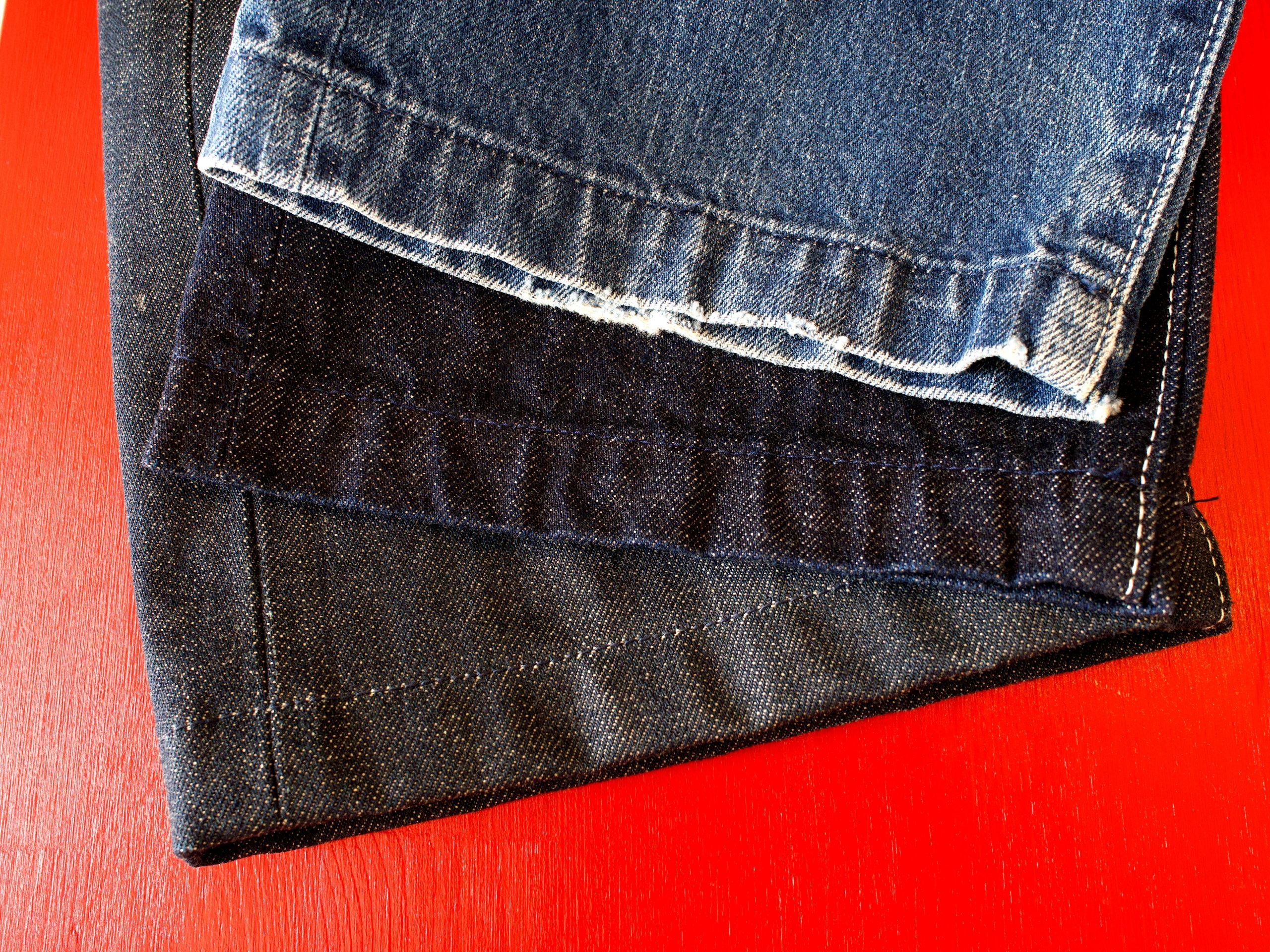 裾のアタリが残る納得の長さのジーンズを穿いて欲しい